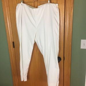 J Jill essential cotton stretch white pants 24